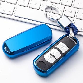 Soft TPU Car key fob cover case protect for Mazda 2 mazda 3 mazda 5 mazda 6 CX-3 CX-4 CX-5 CX-7 CX-9 Atenza Axela MX5 Car stylin фото