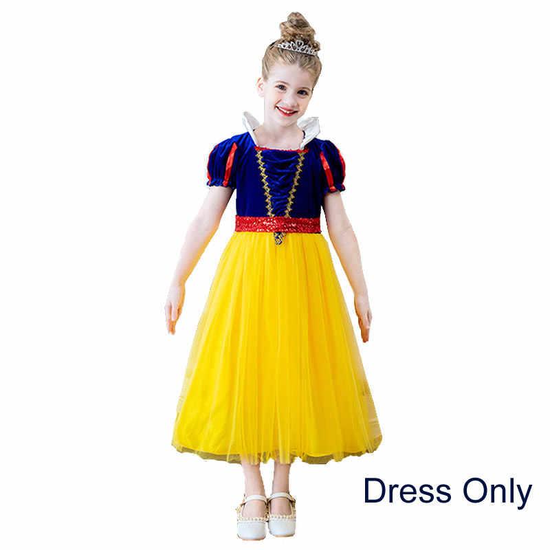 Kar beyaz prenses elbise kız Toddler cadılar bayramı parti giysileri çocuklar peri karikatür rol oynayan bebek sonbahar balo