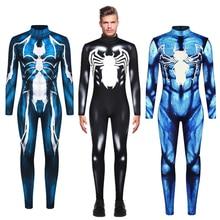 Venom Spiderman Spider-Man Jumpsuit Cosplay Costume Bodysuit Zentai Suit Halloween