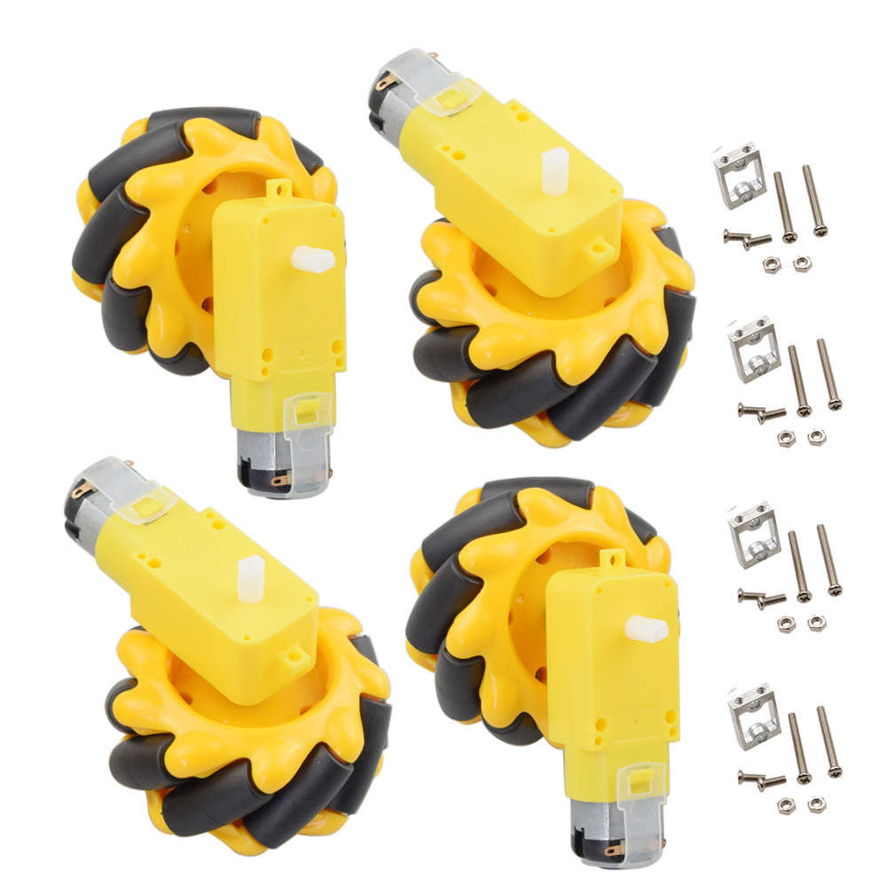 60mm Mecanum Wheel Robot With 4pcs TT Motor For Arduino DIY Robot Car Chassis Kit Programming STEM Toys Parts