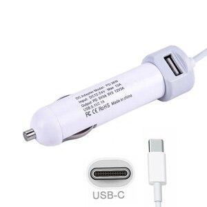 Novo Adaptador de Carregador de Laptop Carro Ingelon 29W 36W PD USB Tipo C C DC Cabo de Alimentação de Viagem com 5.1A 2.1V Porta USB Para Macbook