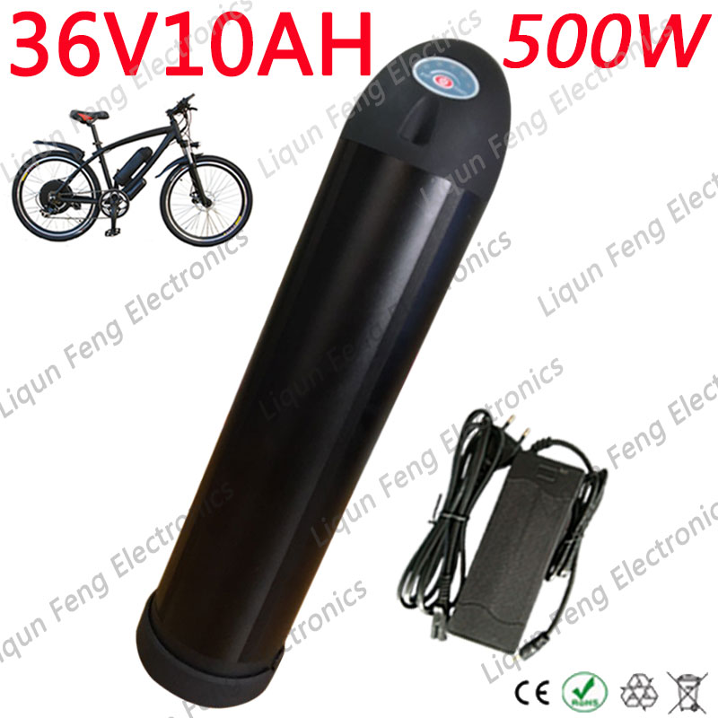Charger 36V 10AH Bottle Lithium Battery Li-ion For Electric Bicycle E Bike Kit