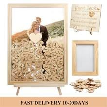 Bruiloft Gastenboek Gepersonaliseerde Rustieke Zoete Bruiloft Gastenboek Drop Box Handtekening 3D Gastenboek Houten Doos Alternatieve Gastenboek
