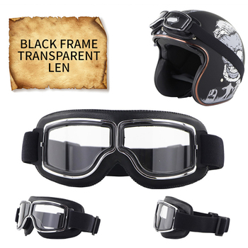 2020 Vintage Pilot Windproof Goggles Motorcycle Leather Glasses Cruiser Scooter ATV Off-Road Outdoor Riding Eyewear for Adults motorcycle atv riding scooter driving flying protective frame clear lens portable vintage helmet goggles glasses for 2009 buell xb12r