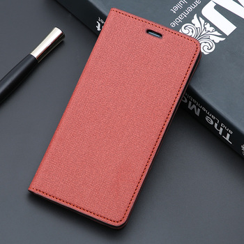 Luxury Flip Cover Phone For Red Mi Note 7 8 9 9Tcase Card Cover Canvas Texture Multi-Function Mobile Phone Case