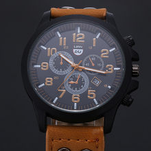 Męskie zegarki na rękę wysokiej jakości skórzany wojskowy wodoodporny data kwarcowy analogowy Casual zegarki kwarcowe Vantage zegar Montre homme