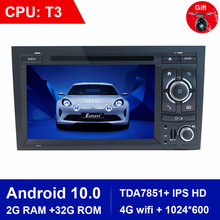 aoluoya ram 2gb 32gb android 6 0 2 din car radio dvd gps player for audi a4 s4 rs4 2002 2007 2008 car audio navigation head unit Eunavi 4 cores 2 Din Car Multimedia Player GPS Android 10.0 DVD Automotivo For Audi/A4/S4 2002-2008 Radio RAM 2GB ROM 32GB