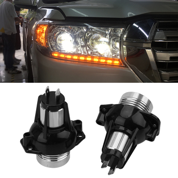 LEEPEE 2pcs LED Angel Eyes Marker Light Bulbs Decorative Lights 900lm Auto Fog Lamp for BMW E90 E91 Error Free Car Lamps image