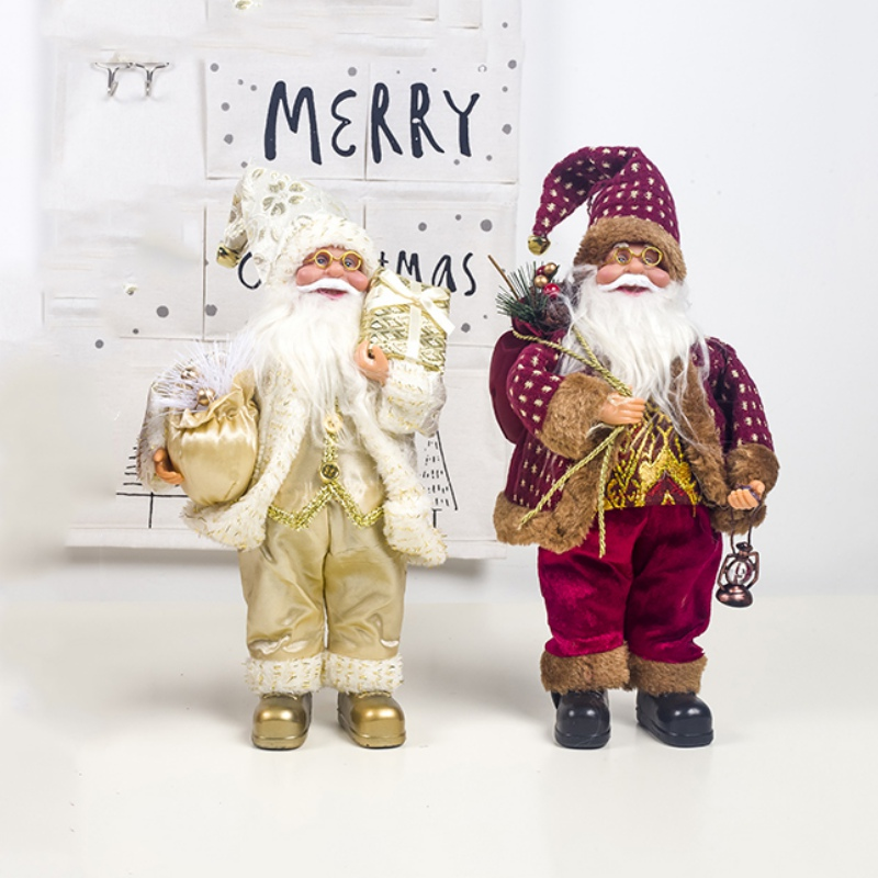 Christmas Ornament Santa Claus Doll <font><b>Holiday</b></font> Figurine Collection Gift Table <font><b>Decoration</b></font> <font><b>Xmas</b></font> Gift <font><b>Decoration</b></font> <font><b>Holiday</b></font> <font><b>Home</b></font> Decor image