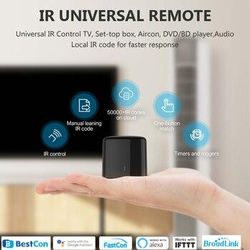 цена на BroadLink BestCon RM4C mini WiFi Smart Universal IR Remote Controller Works with Google Home Wi-Fi 3G 4G, Alexa Smart Home