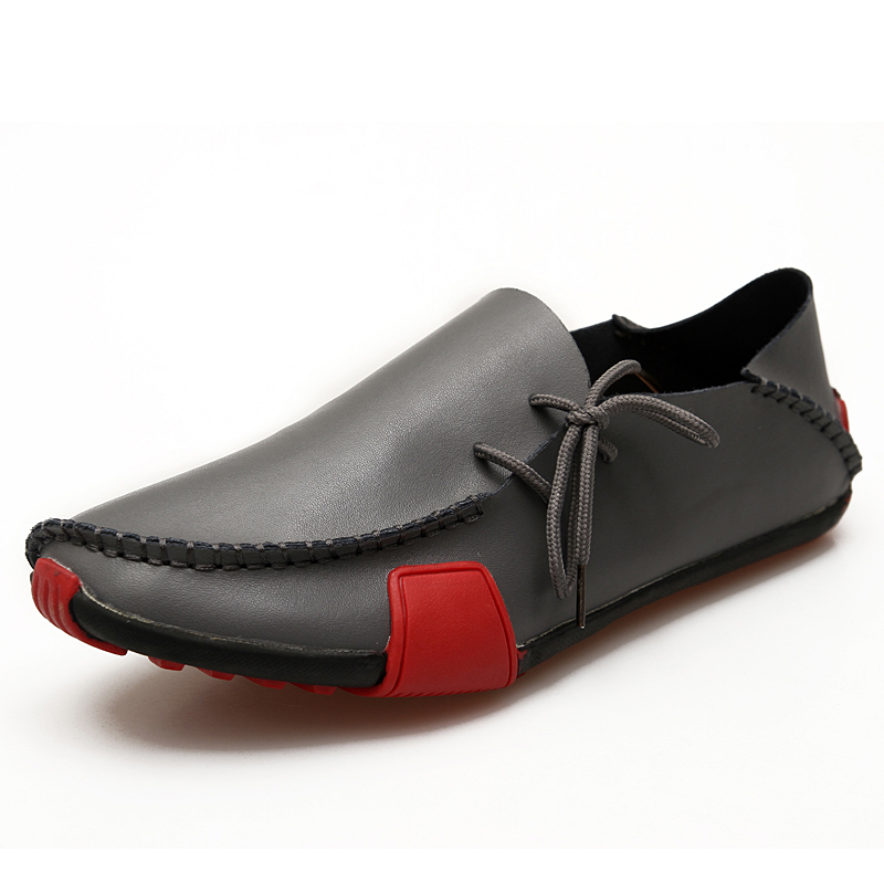 Artificial Leather Men's Casual Boat Shoes 2020 Luxury Brand Mens Loafers Flats Breathable Slip On Driving Shoes Plus Size38 47