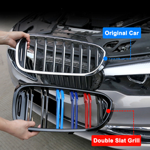 1 Pair Front Kidney Sport Grille Racing Grill Double Slat for BMW F32 F33 F36 F82 420i 428i 435i M4 2014-2018 Car Styling for bmw f36 carbon rear spoiler m4 style 4 series 4 door gran coupe carbon spoiler 2014 2015 2016 up 420i 420d 428i 435i