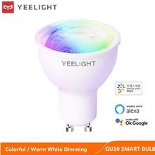 Йи светильник GU10 Smart LED лампа красочные/белый затемнения светильник WI-FI голос Управление для XIA приложение mi home Google Assistant Alexa
