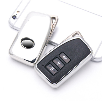 Soft TPU Car Styling Key Cover Case For Lexus NX GS RX IS ES GX LX RC 200 250 350 LS 450H 300H keychain keyring Auto Accessorise image