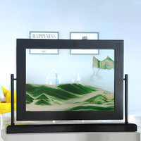moving sand picture 3d flowing sand painting frame cadre sable gift birthday present hourglass table home decorations
