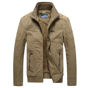 Men Jacket Men's Winter Fashion Fleece-lined Thicken Warm Jackets Mens Cotton Coat Parkas Outerwear Male Tops jaqueta masculina