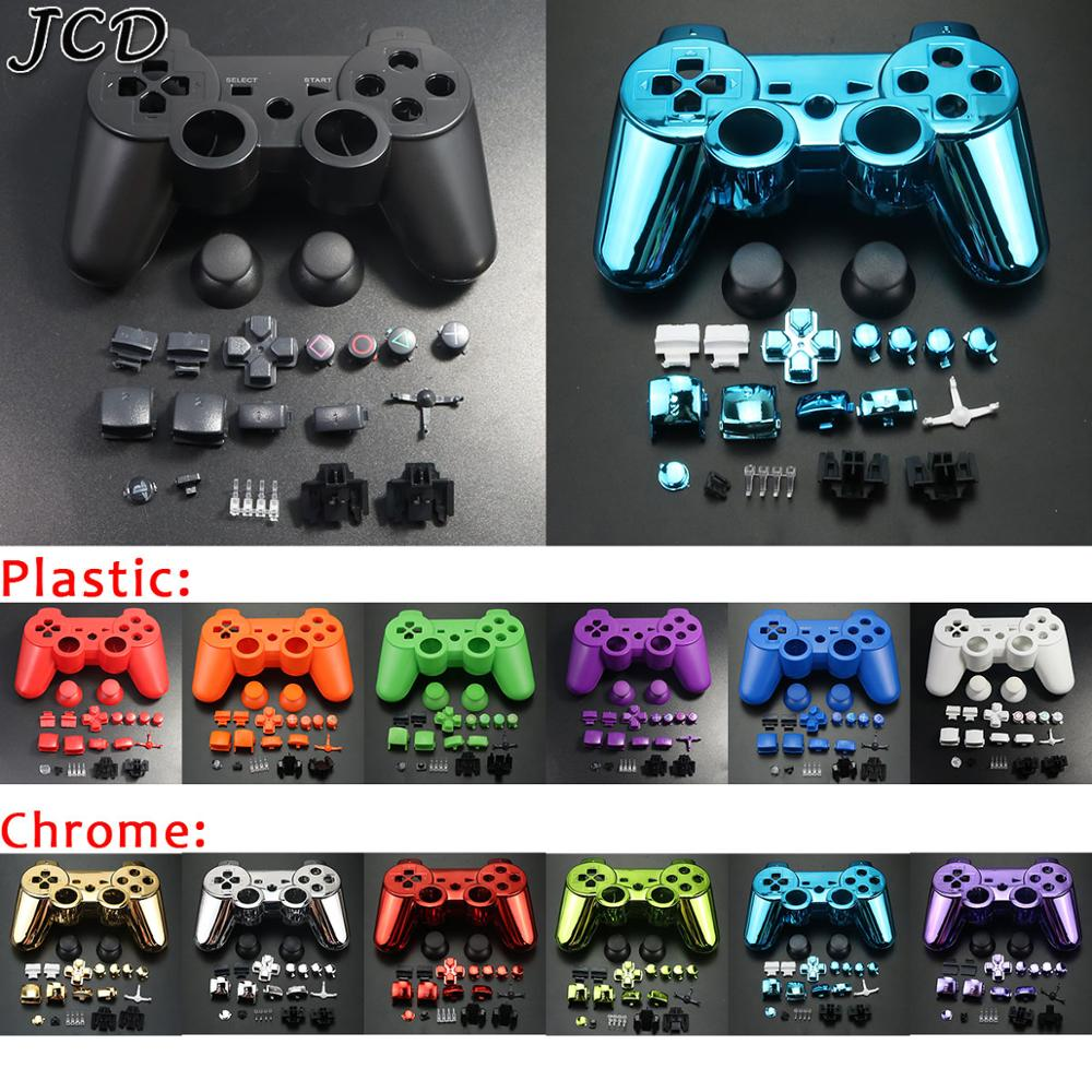 JCD For PS3 Wireless Controller shell kit Housing Shell Case Cover Full Set Buttons and Inner Frame for Sony playstion 3 PS3