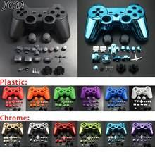 JCD Für PS3 Wireless Controller shell kit Gehäuse Shell Fall Abdeckung Full Set Tasten und Inneren Rahmen für Sony playstion 3 PS3