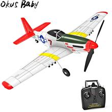 2020 Eachine Mini P-51D EPP 400mm Wingspan 2.4G 6-Axis Electric RC Airplane Trainer Fight Time Fixed Wing RTF for Beginner