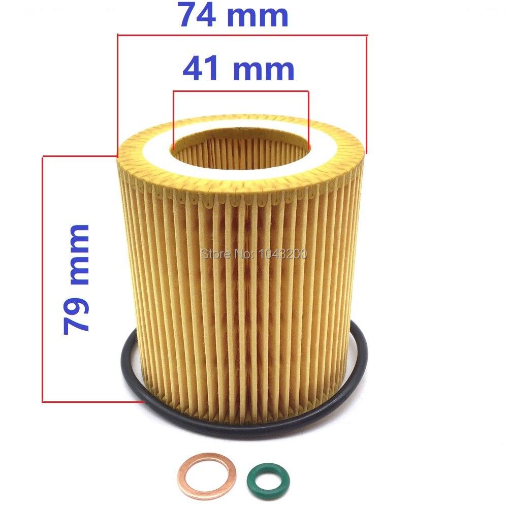 For BMW E60 E61 E84 E85 E90 E91 E92 E93 Engine Oil Filter Kit OEM Mann HU 816 X