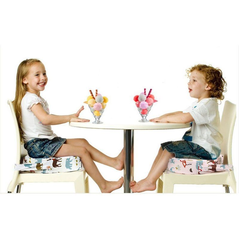 Chrildren Heighten Seat Mat Baby Child Dining Cushion Chair Removable Round Pad U50F