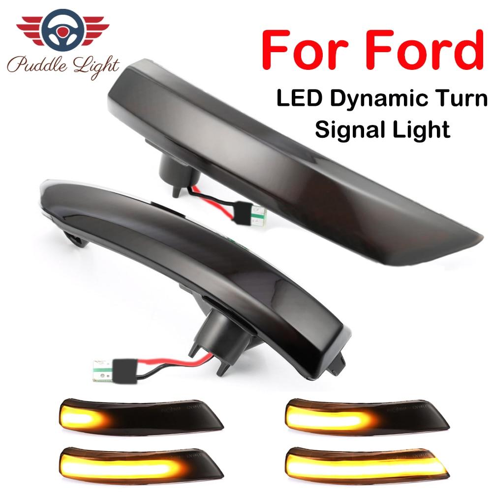 Dynamic Turn Signal Light LED Side Wing Rearview Mirror Indicator Blinker Repeater Light For Ford Focus 2 3 Mk2 Mk3 Mondeo Mk4