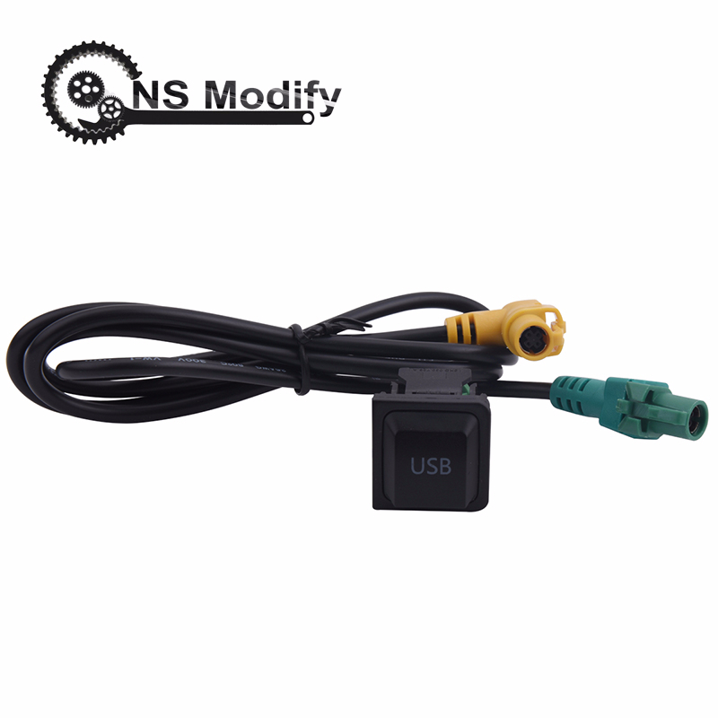 NS Modify Car <font><b>USB</b></font> Cable With Switch <font><b>USB</b></font> <font><b>Adapter</b></font> Audio <font><b>USB</b></font> Cable Switch Plug For <font><b>VW</b></font> <font><b>Golf</b></font> MK5 MK6 VI <font><b>5</b></font> 6 Jetta CC Tiguan Passat B6 image