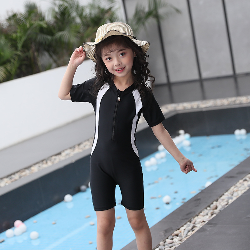Large Size-KID'S Swimwear Women's Sun-resistant One-piece GIRL'S Swimsuit 2018 Parent And Child Diving Suit Outdoor