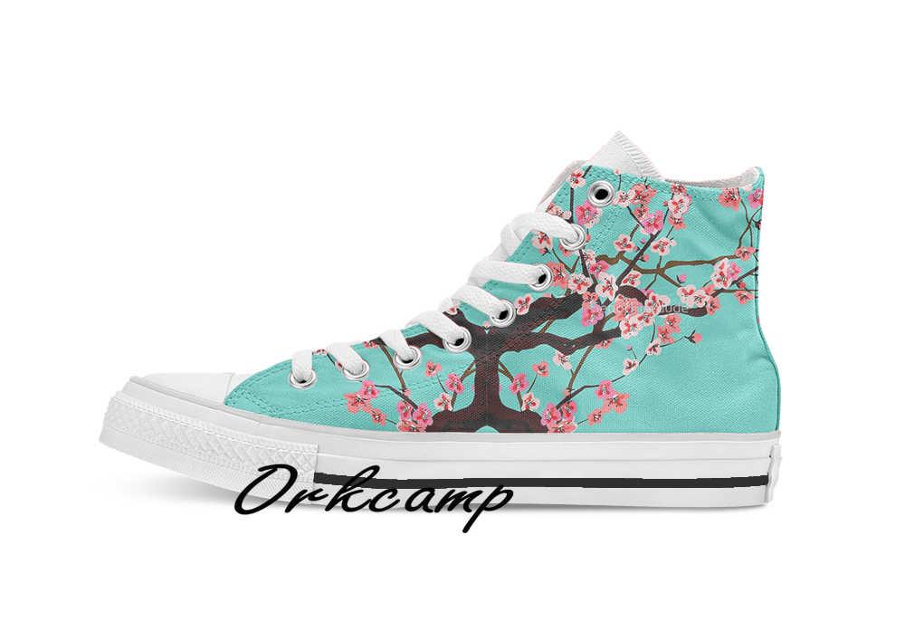 Vaporwave Arizona Ijsthee Esthetische Custom Casual Hoge Top Lace-Up Canvas Schoenen Sneakers Drop Shipping