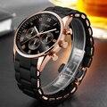 AESOP мужские спортивные часы из розового золота, мужские наручные часы, мужские часы с силиконовым и легированным ремешком, кварцевые наручн...