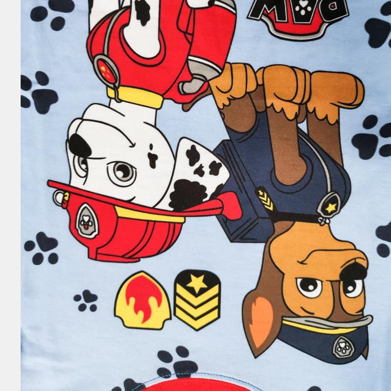 Paw Patrol Original Cotton Cartoon Children for Pajamas Two-piece Thin Section Long-sleeved Patrulla Canina Kids Pajamas 4