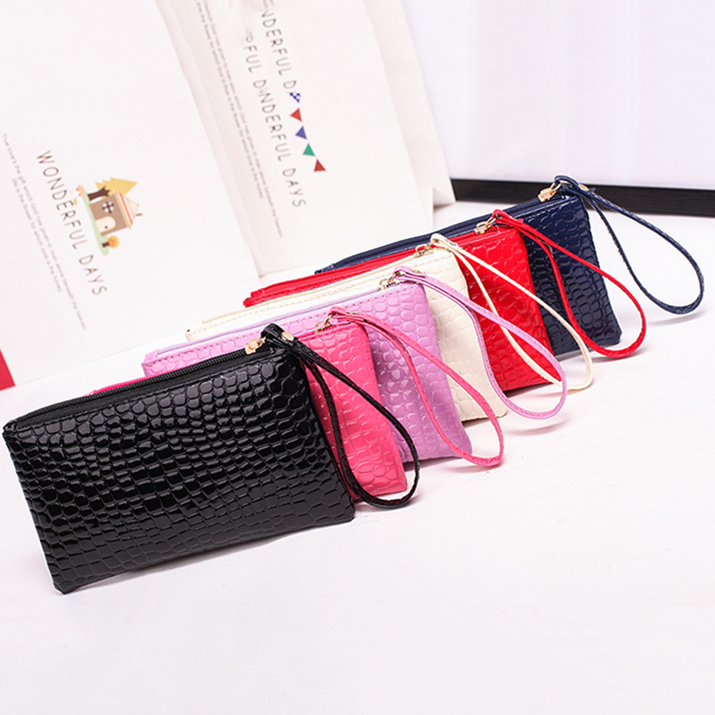 New Coin Purses 1pc Portable Women PU Leather Clutch Handbag Bag Coin Purse Girl's Alligator Purse Wallet Female