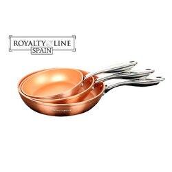 Pack 3 sauce pfannen proffesional Qualität Kupfer coppermade Lizenz Linie!!