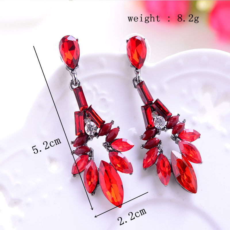 2015 Colorful Waterdrop High Quality Vintage Earrings For Women Fine Jewelry Fashion Elegant Wedding Earring Hot Sale (7)_副本