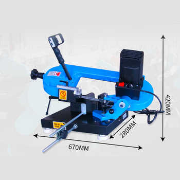 Small Portable Band Sawing Machine Woodworking Tools Metal Multifunction Sawing Machine Cutting Machine Horizontal mechanical