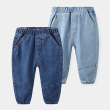 Moda dla dzieci dżinsy odzież spodnie dla dzieci dla chłopców wiosna jesienne dżinsy 90 ~ 130 tanie tanio Na co dzień Pasuje mniejszy niż zwykle proszę sprawdzić ten sklep jest dobór informacji boys jeans Elastyczny pas