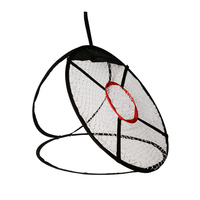 24'' Golf Chipping Net With Hitting Mat And 10 Soft PU Foam Golf Balls, Portable Driving, Chipping, Training Aids For Backyard