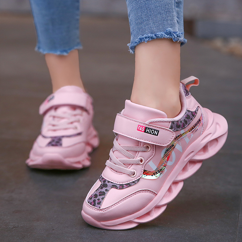 Spring New Kids Pu Leather Shoes Baby Girls Sport Sneakers Children Shoes Boys Fashion Casual Shoes Soft Brand Trainer 3