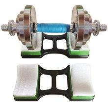1 paar Hantel Halterung Matte Turnhalle Hantel Ständer Halter Set Hause Gewichtheben Fitness Training Boden Schutz Klammern Ausrüstung