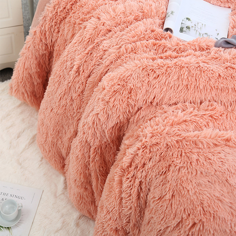 160*200 Shaggy Coral Blanket Warm Soft Blanket For Bed Sofa Bed Bedspreads Home Decoration Comfortable Bed Cover Plaid Blankets-0