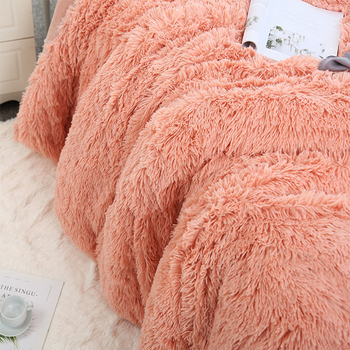 160*200 Shaggy Coral Blanket Warm Soft Blanket For Bed Sofa Bed Bedspreads Home Decoration Comfortable Bed Cover Plaid Blankets