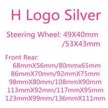 1x abs chrome h-onda frente bonnet grill tronco traseiro emblema emblema adesivo estilo do carro volante adesivo h logotipo