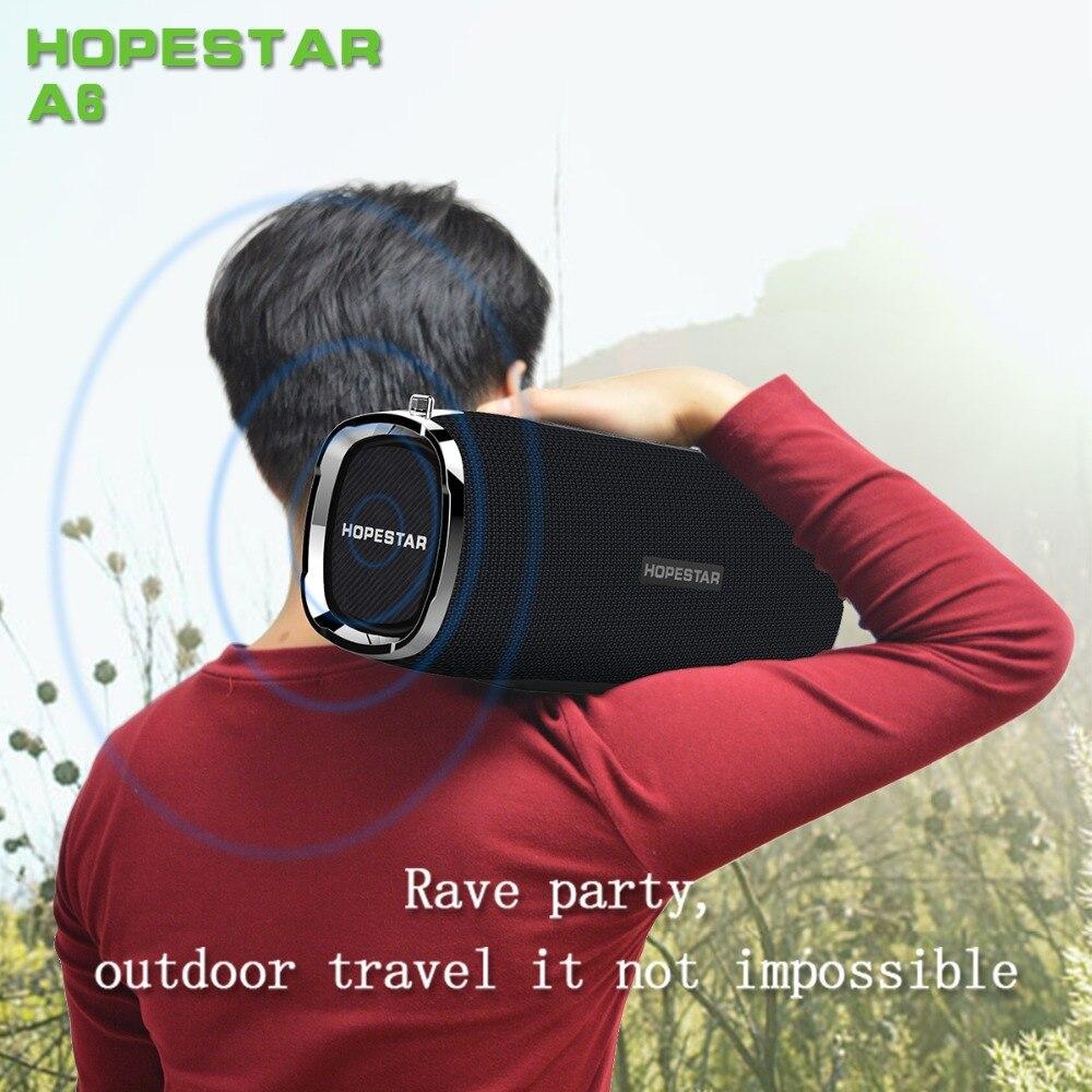 Estéreo à Prova Água com Microfone Alto-falante Grande Casa Soundbar Alto Falantes Bluetooth Ipx6 Dwaterproof tf Subwoofer Hopestar-a6 34 w 6000mah