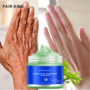 Zielona herbata nawilżający wosk do rąk wybielanie skóry maska do rąk naprawa złuszczający modzele Film Anti-Aging krem do rąk zabieg na skórę tanie i dobre opinie FAIR KING Unisex Chiny GZZZ YGZWBZ 20190808 Rąk maska Hand Mask CAMELLIA SINENSIS LEAF EXTRACT HONEY EXTRACT Moisturizing
