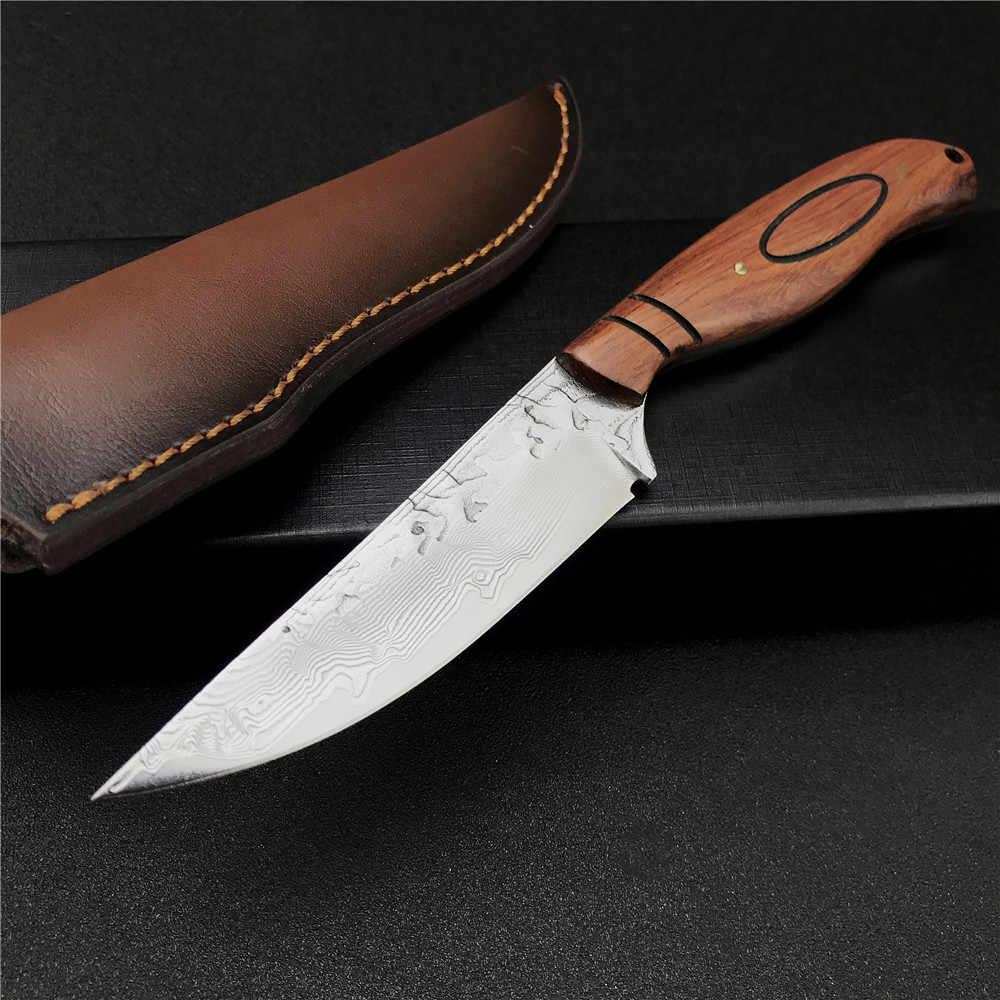 Damassé Couteau très beau Main Forgé damassé chasse couteau 509 DL