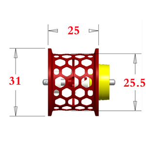 Image 3 - DIY סליל קל משקל עבור DAIWA PX68 PIXY אלפא אוויר זרם CUSTOM חלת דבש דיג סליל סליל