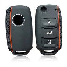 Silikon Auto Schlüssel Abdeckung Fall für VW golf Bora Jetta POLO für Skoda Yeti Superb Octavia Schnelle für SEAT leon ibiza remote key shell