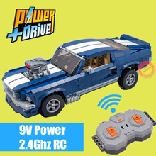 New MOC RC Motor Power Functions for 10265 1967 GT500 Ford Mustang Fit Legoings Technic City Building Blocks Bricks Toy Kid Gift printio ford mustang shelby gt500 eleanor 1967