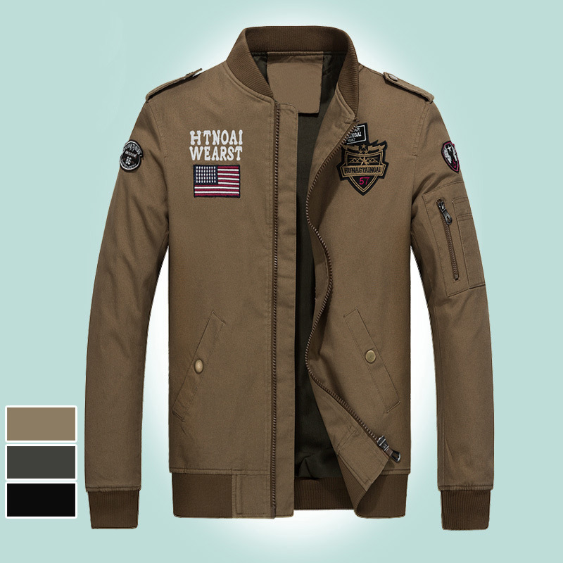 2018 Autumn And Winter Air Force One Casual Jacket Outdoor Large Size Men'S Wear Pure Cotton Men's Jacket 1718