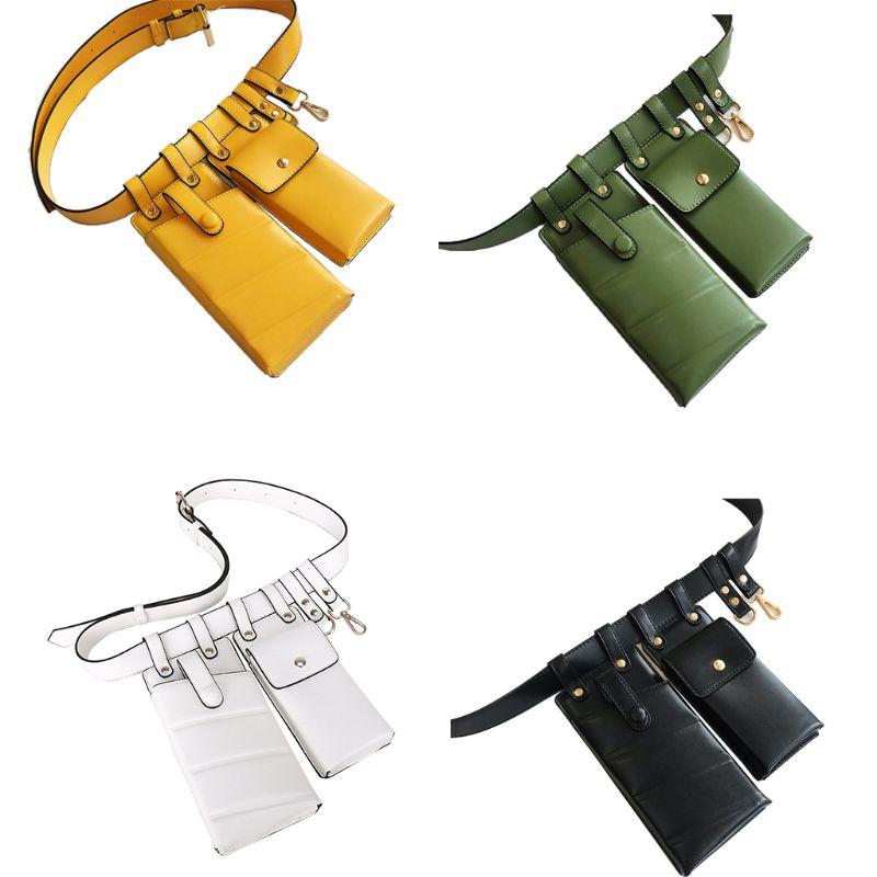 2019 Fashion Women Leather Waist Fanny Pack Belt Bag Phone Pouch Travel Hip Bum Shoulder Bags Purse